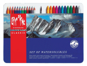 CARAN D'ACHE Classicolor Set of water-soluble colour pencils and pastels metal box