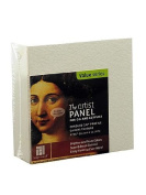 Ampersand The Artist Panel Canvas Texture Cradled Profile 10cm . x 10cm . 3.8cm . [PACK OF 2 ]