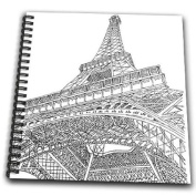 PS Vintage - Eiffel Tower Paris France - Drawing Book