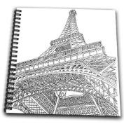 PS Vintage - Eiffel Tower Paris France - Drawing Book