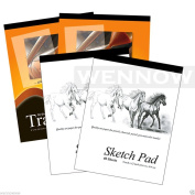 "Wennow ""4 Pcs Tracing Paper Pad 30 Sheets+Sketch Book Paper Pad 40 Sheets"