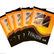 "Wennow ""5 Pcs 23cm x 30cm Premium Quality Tracing Paper Pad 30 Sheets"