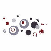 2013Newestseller Circles Bubbles Design Wall Sticker Removable Bed Room Art Mural Vinyl Wall Sticker Decal.