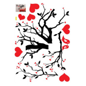 2013Newestseller Loving Heart and lovely birds Design Removable Bed Room Art Mural Vinyl Wall Sticker Decal.