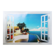 2013Newestseller Beach and Fake Windows Design Removable Bed Room Art Mural Vinyl Wall Sticker Decal.