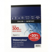 "Daler Rowney Aquafine Pad 300gsm 254x178mm (10x7"") 12 sheets - gummed pad"