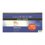 Daler Rowney Aquafine Pad 300gsm 20x40cm 12SH - gummed pad