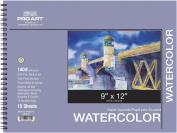 Pro Art Watercolour Paper Spiral Pad, 140-Pound