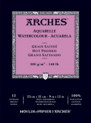 Arches Watercolour Pad Hot Press 9X12