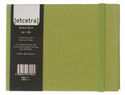 Grandluxe Green Etcetra Sketchbook, Medium, 10cm x 15cm