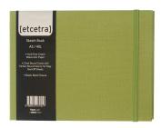 Grandluxe Green Etcetra Sketchbook, Large, 15cm x 21cm