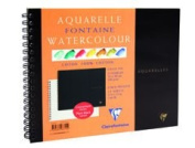 Clairefontaine Watercolour 300g Spiral Pad 18x24cm NOT - 12 sheets