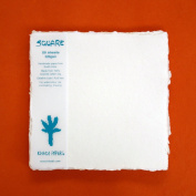 KHADI PAPER SQUARE WHITE RAG PAPER (20 SHEETS) PACKS SP4-2W 320 GSM 20cm X 20cm