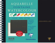 Clairefontaine Watercolour 300g Spiral Pad 24x30cm ROUGH - 12 sheets