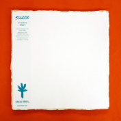 KHADI PAPER SQUARE WHITE RAG PAPER (20 SHEETS) PACKS SP3-2W 320 GSM 30cm X 30cm