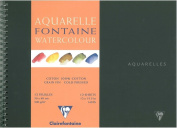 Clairefontaine Watercolour 300g Spiral Pad 30x40cm NOT - 12 sheets