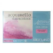 Fabriano Artistico 140 lb. Hot Press 20 Sheet Block 30cm x 46cm - Traditional White