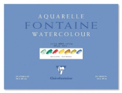 Clairefontaine Watercolour 300g Block 30x40cm HOT PRESS - 25 sheets