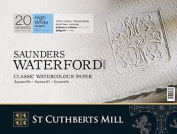 """High White Saunders Waterford Block 300gsm 310 x 410mm (12"""" x 16"""") 20 Sheets Not"""