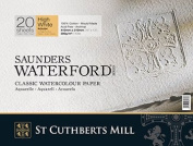 """High White Saunders Waterford Block 300gsm 310 x 410mm (12"""" x 16"""") 20 Sheets Rough"""