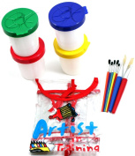 Little Painter's Art Set Complete-Just Add Paint-Apron, Cups, Assorted Brushes