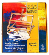 Winsor and Newton Complete Acrylic Painting Set with Adjustable Easel