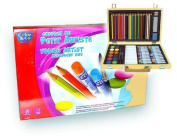 Complete Art Set Has 68 Assorted Pieces in a Sturdy Hinged Box