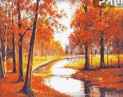 W & Hstore 13415 DIY Paint By Number Kit,AUTUMN,50cm x 41cm