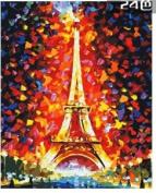 W & Hstore 13402 DIY Paint By Number Kit,Eiffel tower,50cm x 41cm