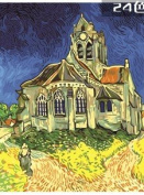 W & Hstore 13405 DIY Paint By Number Kit,The Church at Auvers,50cm x 41cm
