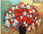 W & Hstore 13419 DIY Paint By Number Kit,Flower,50cm x 41cm
