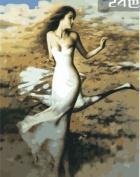 W & Hstore 13408 DIY Paint By Number Kit,dancer,50cm x 41cm