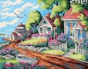 W & Hstore 13416 DIY Paint By Number Kit,DREAM HOUSE,50cm x 41cm