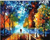 W & Hstore 13418 DIY Paint By Number Kit,Colourful Night,50cm x 41cm