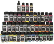 Badger Air-Brush Company Minitaire Colour Paint Set with Colour Coat/Paint Retarder
