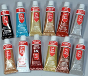 Rub N Buff Wax Metallic Finishes 12 Colour Sampler Set