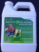 soythin, 950ml, odourless paint thinner, soy additive makes for less hazardous vapours and a much better brush cleaner, dissolving power to blend most solvent based paints and glazing products.