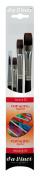 Da Vinci 4220 Top Acryl Short Handled 4 Brush Set for Acrylic, Oil And Watercolour
