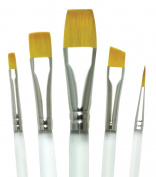 Aqualon Royal and Langnickel Short Handle Paint Brush Set, Variety, 5-Piece