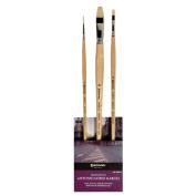 Global Art Materials Escoda Antonio Lopez Garcia Oil/Acrylic Brush Set No.2
