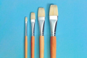 School Smart White Bristle Brush with Long Handle - Assorted Sizes - Set of 72