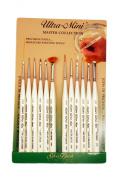 Silver Brush UMS-2412S Ultra Mini Miniature Detail Brush Set, 12 Per Pack
