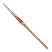 R & F Handmade Paints Encaustic Round Paintbrush, No.8