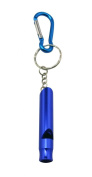 Yongshida Aluminium Whistle Colour Deep Blue with Key Ring and Carabiner Pack of 10