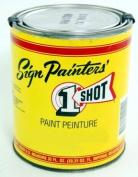 1-Shot Lettering Enamel lettering white quart can