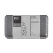 R & F Encaustic 40ml Paint, Iridescent Pewter