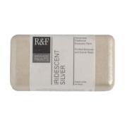 R & F Encaustic 40ml Paint, Iridescent Silver