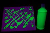 470ml Yellow Blacklight Reactive Fluorescent Tempera Paint