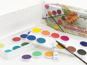 Grumbacher Deluxe Opaque Watercolour Set 24 pan set
