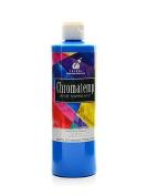 Chroma Inc. ChromaTemp Artists' Tempera Paint fluorescent blue 500ml [PACK OF 3 ]